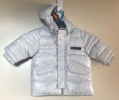 Timberland Boys Removable Hood Padded Jacket. Size 6 Months