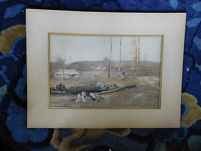 Antique 1890's Original Photogravure Goupil of George Inness Painting