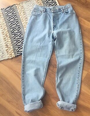 Levi's Vtg 550 High Waist Relaxed Fit Tapered Leg Mom Jeans Light Wash Sz 30 12L