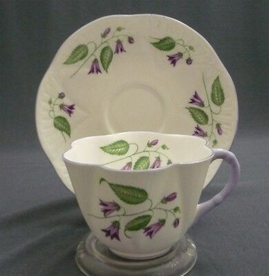 Shelley England Fine Bone China Dainty Shape CAMPANULA Tea Cup & Saucer Duo Set