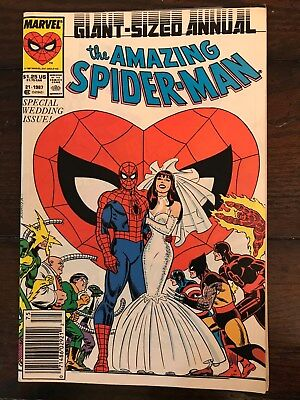 The Amazing Spider-Man Annual #21 (1987, Marvel) - Wedding Issue