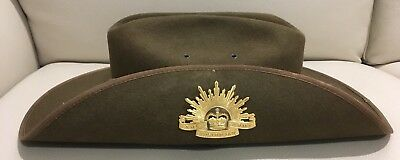 Military Ceremonial Slouch Hat Size 57 with Rising Sun Badge FREE POSTAGE