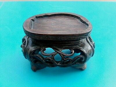 Chinese Hardwood Stand Intricate & Unusual Shape L@@K!!!!