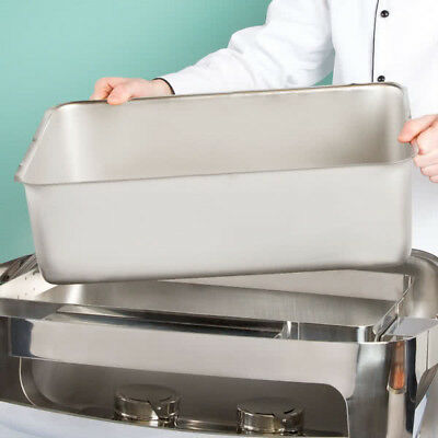 "Full Size Silver Stainless Steel Steam Table 6"" Deep Spillage / Water Pan"