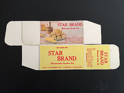 1960's Star Brand Butter Box -  Le Sueur, Minnesota.