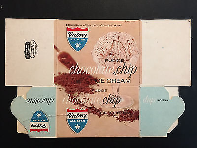 Vintage Victory All Star Chocolate Chip Ice Cream Container- Emporia, Kansas.