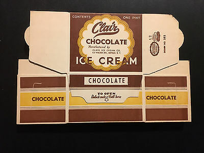 Vintage 1950's Clair Chocolate Ice Cream Container – Buffalo, New York