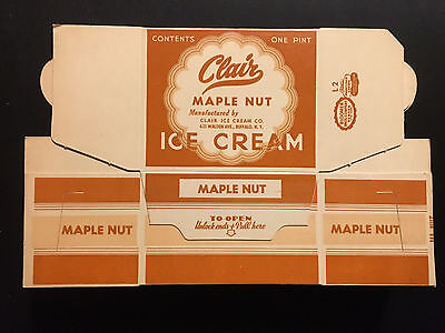 Vintage and Original 1950's Clair Maple Nut Ice Cream Container – Buffalo, N.Y.