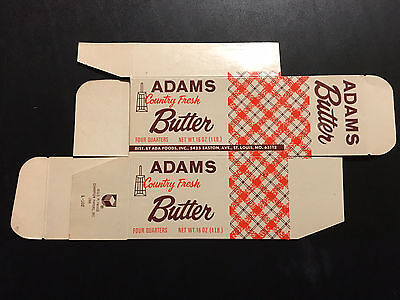 Vintage ADAMS Country Fresh Butter Box NOS - St. Louis, Missouri