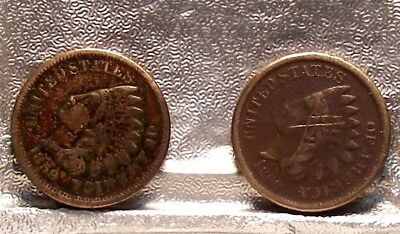 1859  1860 C/N Indian Head Cents  (2 coins)