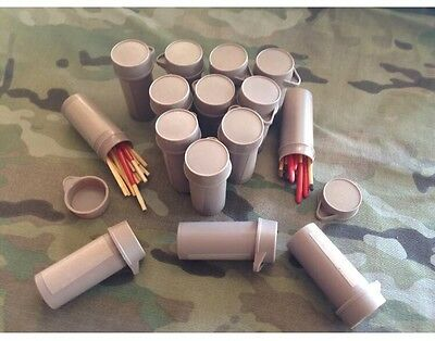 15 Australian Army Ration Pack Bottles Survival Matches. Waterproof Wind Auscam