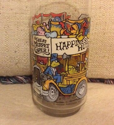 Vintage 198The Great Muppet Caper McDonalds Glass, Happiness Hotel Jim Henson
