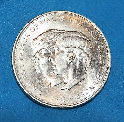 1981 UK Crown Coin Commemorating Charles & Diana's Wedding Uncirculated