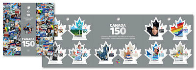 Stamp Pickers Canada 150 Canada Post 2017 Permanent Booklet Pane MNH