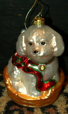 """Large Bischon Frise Spaniel? Dog Christmas Ornament 5""""~New"""