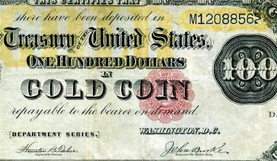 HGR FRIDAY 1882 $100 X-RARE ((Gold Certificate)) AWESOME GRADE