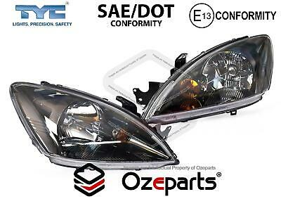 Mitsubishi Lancer CH VRX 03~08 Sedan / Wagon Pair LH+RH Head Light Lamp Black