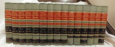 1965 Vintage 68 Volumes - 29 Law Book Set Ohio Cases West North Eastern Reporter