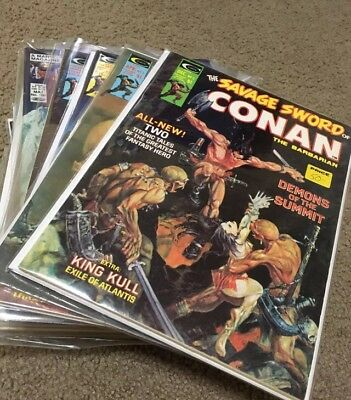 the savage sword of conan the barbarian Lot of 31 with low numbers