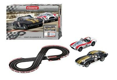 Corvette Stingray & Shelby Cobra Fast Classics Carrera Slot Car Racing Track Set