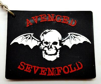 AVENGED SEVENFOLD Rubber Keychain  Key Ring New #K15