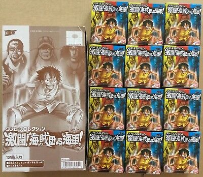 One Piece Anime Figure Set New Complete 10pc and 2pc Bandai Japan Version