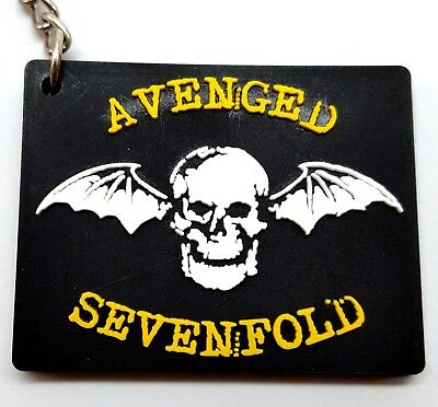 AVENGED SEVENFOLD Rubber Keychain  Key Ring New #K17