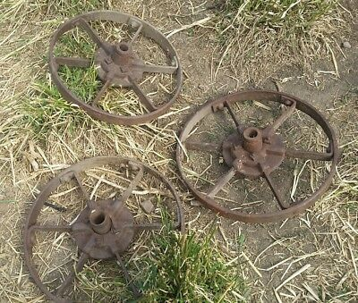 vintage stationary engine collectible Steel wheels garden steampunk