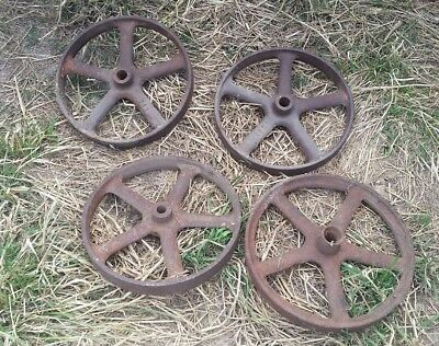 vintage stationary engine collectible set Steel wheels garden ornament steampunk