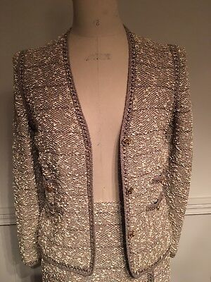 Vintage Adolfo Knitted Suit W/ Lurex M excellent condition