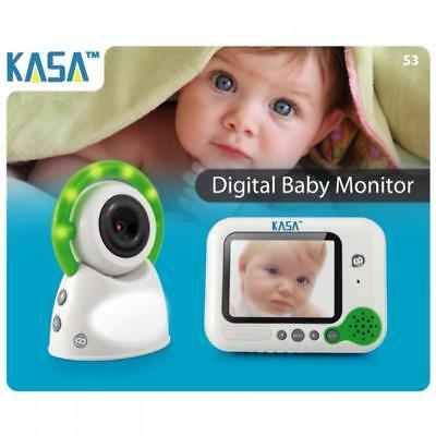 "New WIRELESS Secure KASA COLOUR BABY MONITOR - 3.5"" Screen - 2.4MHz 200m Range"
