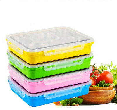 Stainless Steel Bento Lunch Box with 5 Compartments for Adults and Kid Container