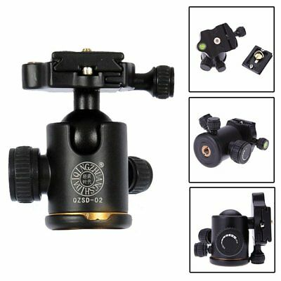 "Professional Camera Tripod Monopod Ball Head Quick Release Plate 1/4"" For DSLR"