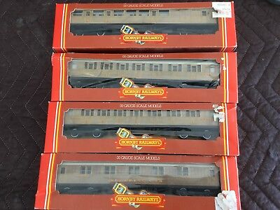 Oo Scale As New In Box Hornby Lner Flying Scotsman Coaches X 4 Passenger Cars