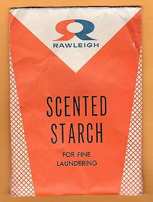 """1940s Rawleigh Scented Starch for Fine Laundering, not opened 3.5 x 5"""" wide"""