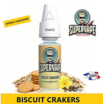 SUPERVAPE E-liquide DIY arôme (concentré) biscuit crackers lot 2 flacons