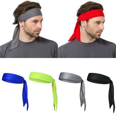 US Outdoor Men Headband Sports Running Basketball Head Tie Tennis Sweatband  Wrap 4c3f42ed4cc