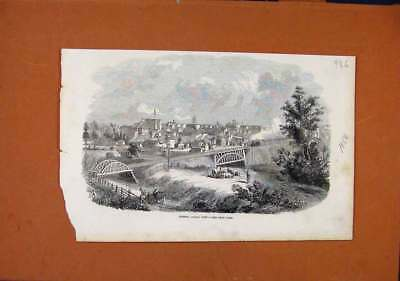 Old Antique Print London Canada West C1856 Illustrated London News 368270