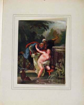 Antique Print Limited Edition Susanna And The Elders By J Christophe 017711