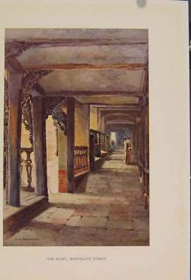 Old Antique Print Painting By Haslehust Rows Watergate Street 389331