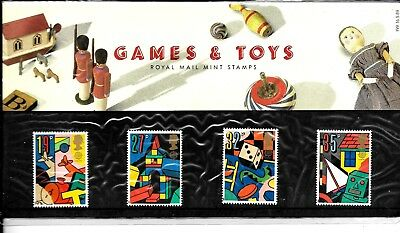 1989 Games & Toys  Presentation Pack 199 Very Fine Unmounted Mint Free Post Uk