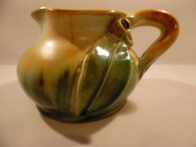 REMUED SQUAT JUG, WITH GUM NUTS AND LEAF. early series 173small M.