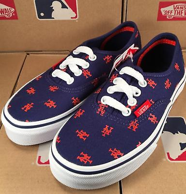 5a1b99d74395 Vans KIDS New York Mets MLB Authentic Sneaker Limited Edition Shoes CHILDREN