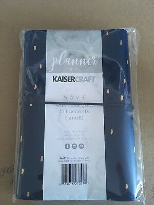 kaisercraft Personal Size Planner Navy Rose Gold