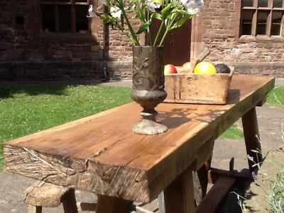 Traditionally Made European Rustic Work Bench Console Table - MADE TO ORDER