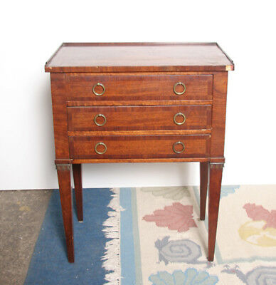 Three-Drawer End Table with Ring Handles