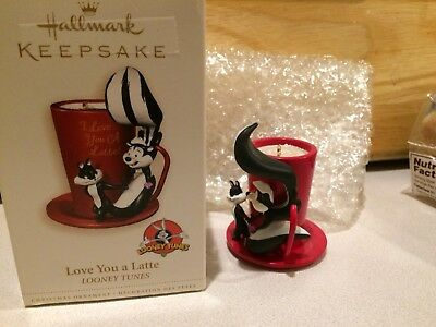 2006 Love You A Latte Hallmark Ornament Pepe Le Pew Coffee Looney Tunes