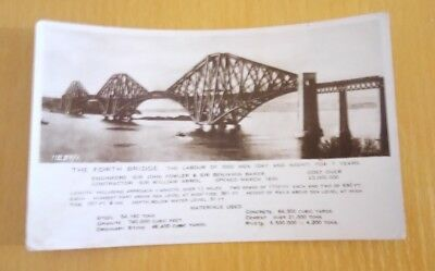 """THE FORTH BRIDGE SCOTLAND"" POSTCARD REAL PHOTO all details on card"