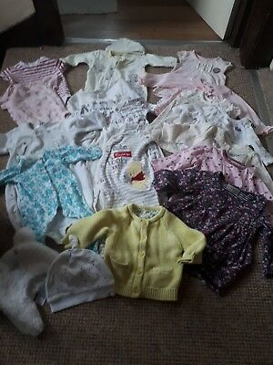 Bundle of baby girl winter clothes 0-3, 3-6months NEXT M&S