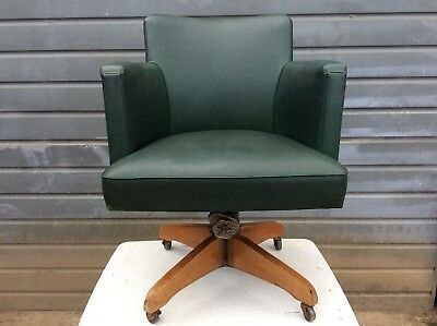 Vintage Industrial Captains Office Swivel Chair, Fita Design Mid Century